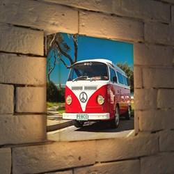 Лайтбокс Автобус мира 25x25-095