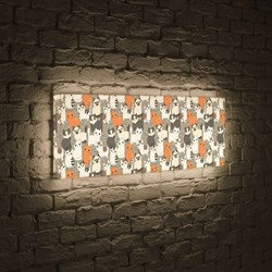 Лайтбокс панорамный Котики 35x105-p013
