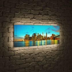 Лайтбокс панорамный Огни большого города 35x105-p005