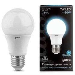 Лампа светодиодная Gauss E27 7W 4100K матовая 102502207