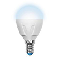 Лампа светодиодная Uniel E14 7W 4500K матовая LED-G45-7W/NW/E14/FR PLP01WH UL-00000771