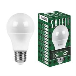 Лампа светодиодная Saffit E27 10W 4000K Шар Матовая SBA6010 55005