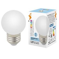 Лампа декоративная светодиодная Volpe E27 1W 6000K матовая LED-G45-1W/6000K/E27/FR/С UL-00005806