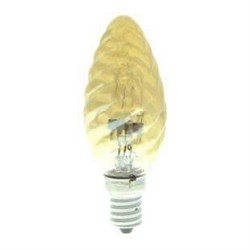 Лампа галогенная Uniel E14 42W золотая HCL-42/CL/E14 candle twisted gold 04115