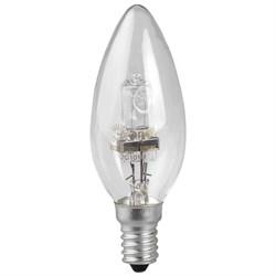 Лампа галогенная ЭРА E14 28W 2700K прозрачная HAL-B35-28W-230V-E14-CL C0038550