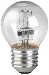 Лампа галогенная ЭРА E27 42W 2700K прозрачная HAL-P45-42W-230V-E27-CL C0038553