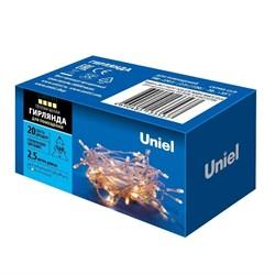 Светодиодная гирлянда Uniel 220V теплый белый ULD-S0250-020/STA Warm White IP20 UL-00007191