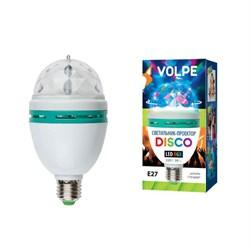 Светодиодный светильник-проектор (09839) Volpe Disko ULI-Q301 03W/RGB/E27 WHITE