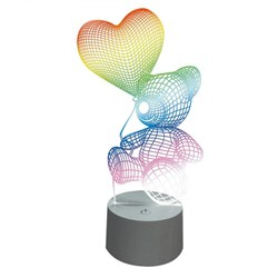 Фигурка светодиодная «Мишка с сердцем» 25x13см (UL-00007420) Uniel ULI-M503 RGB/3AAA Lovebear/White