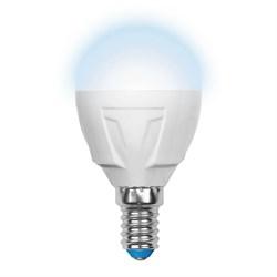 Лампа светодиодная (UL-00000692) Uniel E14 6W 4500K матовая LED-G45-6W/NW/E14/FR/DIM PLP01WH