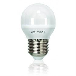 Лампа светодиодная диммируемая Voltega E27 6W 4000К матовая VG2-G2E27cold6W-D 5496