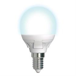 Лампа светодиодная диммируемая (UL-00004300) Uniel E14 7W 4000K матовая LED-G45 7W/4000K/E14/FR/DIM PLP01WH