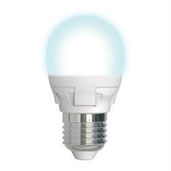 Лампа светодиодная диммируемая (UL-00004301) Uniel E27 7W 4000K матовая LED-G45 7W/4000K/E27/FR/DIM PLP01WH