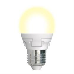 Лампа светодиодная диммируемая (UL-00004303) Uniel E27 7W 3000K матовая LED-G45 7W/3000K/E27/FR/DIM PLP01WH