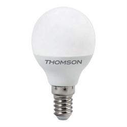 Лампа светодиодная диммируемая Thomson E14 6W 3000K шар матовая TH-B2153