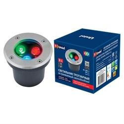 Ландшафтный светодиодный светильник Uniel ULU-B10A-3W/RGB IP67 Grey UL-00006818