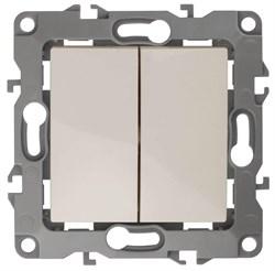 Выключатель двухклавишный ЭРА 12 10AX 250V 12-1104-02 Б0014646
