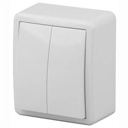 Переключатель двухклавишный ЭРА Эксперт 10AX 250V 11-1204-01 Б0020663