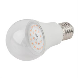 Лампа светодиодная для растений ЭРА E27 11W 2150K прозрачная FITO-11W-Ra90-E27 Б0039172