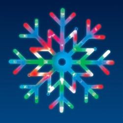 Подвесной светодиодный светильник «Снежинка» (UL-00007250) Uniel ULD-H4040-048/DTA RGB IP20 Snowflake