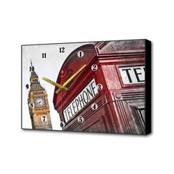 Настенные часы Красная будка II Timebox Toplight 37х60х4см TL-C5010