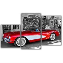 Мини модульная картина Красная машина Toplight 55х94см TL-MM1043