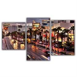 Мини модульная картина Огни Лас Вегаса Toplight 55х94см TL-MM1044