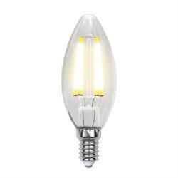 Лампа светодиодная филаментная Uniel E14 6W 4000K прозрачная LED-C35-6W/NW/E14/CL PLS02WH UL-00001373
