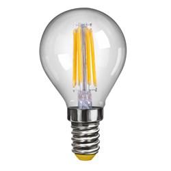 Лампа светодиодная филаментная Voltega E14 4W 2800К шар прозрачный VG10-G1E14warm4W-F 7008