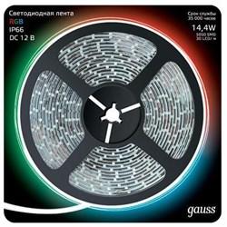 Светодиодная влагозащищенная лента Gauss 14,4W/m 60LED/m 5050SMD RGB 5M 311000414