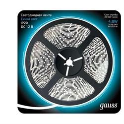 Светодиодная лента Gauss 4,8W/m 60LED/m 2835SMD синий 5M 312000505