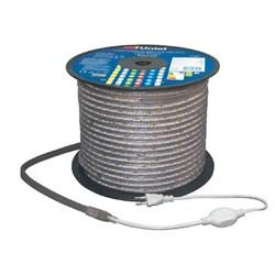 Светодиодная влагозащищенная лента Uniel 8W/m 60LED/m 2835SMD холодный белый 50M ULS-2835-60LED/m-10mm-IP67-220V-8W/m-50M-DW UL-00000659
