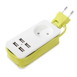 Удлинитель Uniel 1гн х 1,5м б/з Travel S-CT1-1,5U White/Green UL-00003331