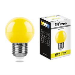 Лампа светодиодная Feron E27 1W желтая LB-37 25879