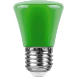 Лампа светодиодная Feron E27 1W зеленая LB-372 25912