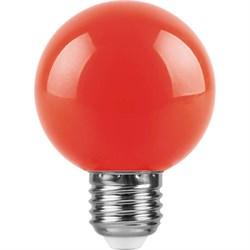 Лампа светодиодная Feron E27 3W красная LB-371 25905