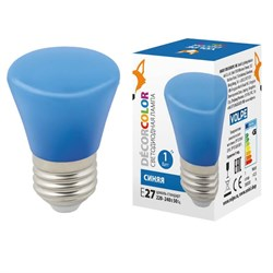 Лампа светодиодная Volpe E27 1W синяя LED-D45-1W/BLUE/E27/FR/С BELL UL-00005639