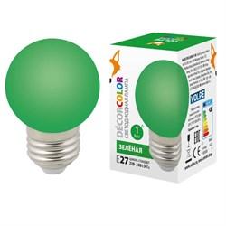 Лампа светодиодная Volpe E27 1W зеленая LED-G45-1W/GREEN/E27/FR/С UL-00005648